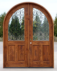 The Barcelona Arched Top Double Doors