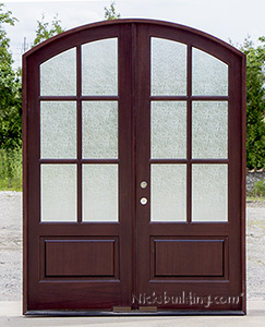 Whitehawk Door with Rain Glass