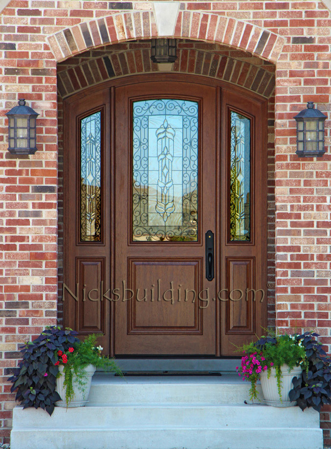 Arched Exterior Door With Iron Part 26