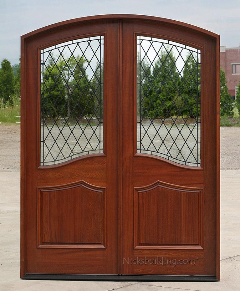 Mahogany round top door african mahogany doors arched - Doors for arched doorways ...