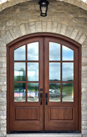 Whitehawk arched top double doors