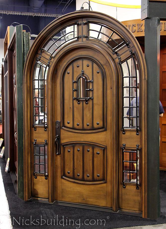 Alder Doors Rustic Exterior Arch Top Doors