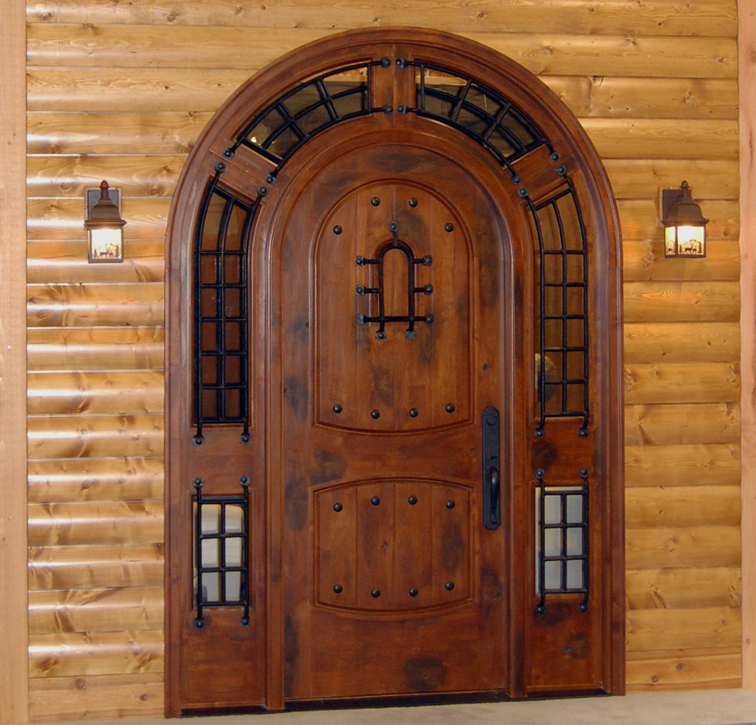 Rustic exterior doors tuscany entry doors mediterranean for Wood entry doors