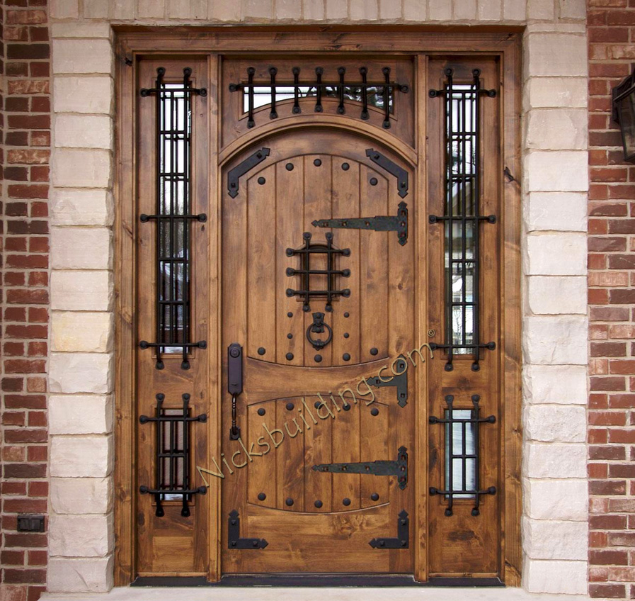 Rustic doors exterior alder doors arch top door for Entrance door designs for flats in india