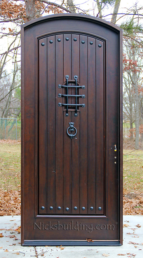 Rustic Arched Exterior Single Doors