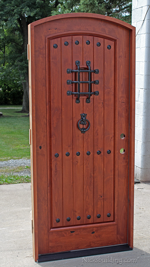 Exterior Door Southwest Style Arched Top Single door El Dorado & Alder Doors | Rustic Exterior \u0026 Arch Top Doors