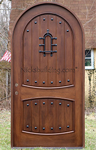 Teak Doors Arched Top Sonoma