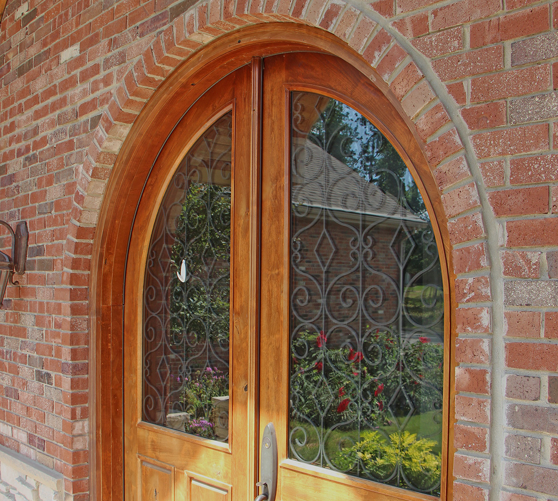 Exterior Entry Double Doors Arched Top 1113 x 1000