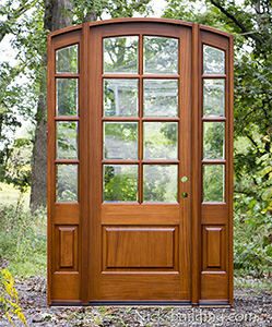 exterior arched french door with sidelights clear beveled glass