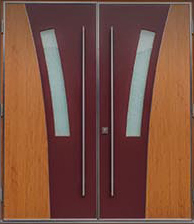Laminated Glass, Modern Exterior Double Doors