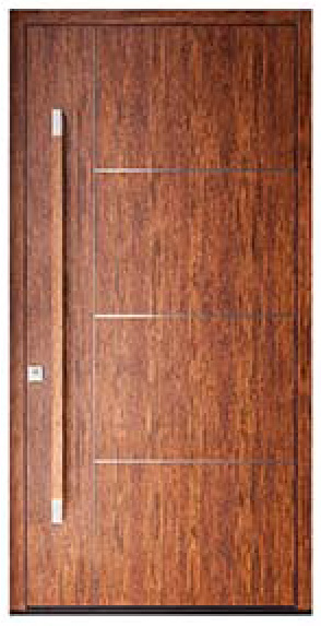 modern entry doors in Teak