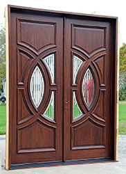 best exterior double door in Mahogany the Portillo