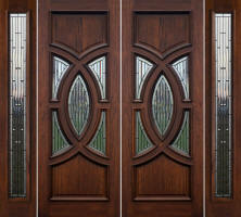 Monarch Double Doors with Sidelites