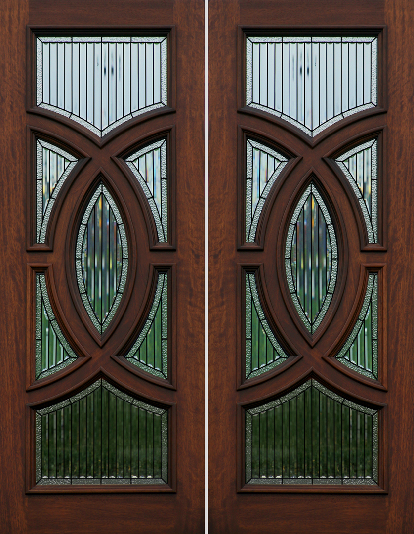 Mahogany exterior entry double door ebay for Exterior double doors