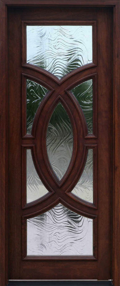Wood mahogany front doors exterior doors entrance doors for Baroque glass door