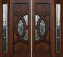 Modern Contemporary Exterior Mahogany double doors Model Portillo