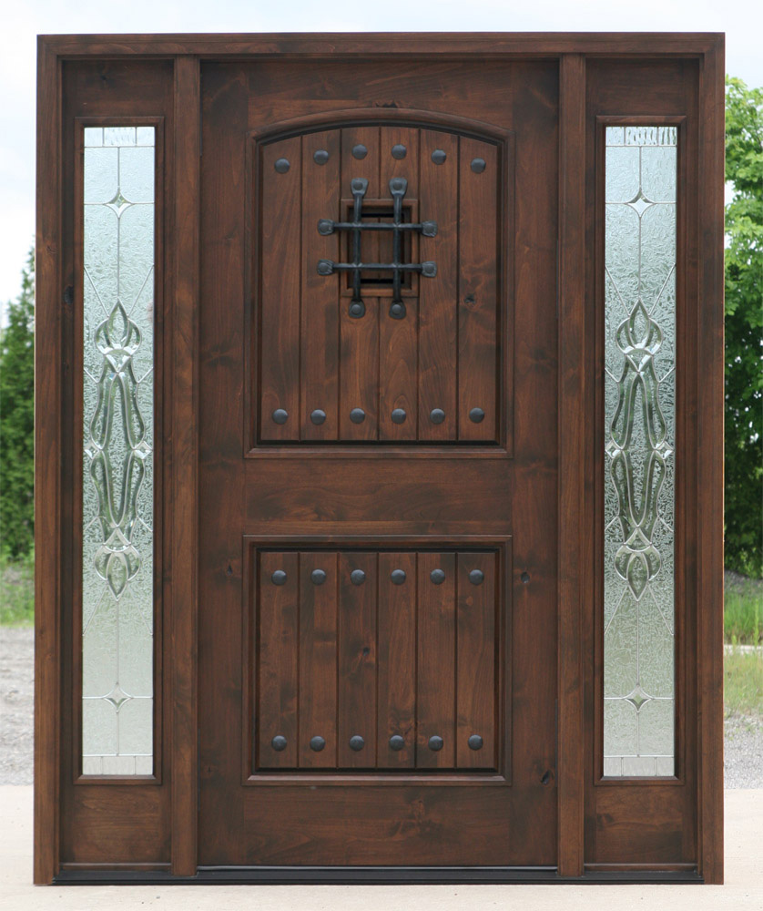 popular exterior rustic doors with 2 sidelights. Black Bedroom Furniture Sets. Home Design Ideas