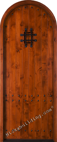 knotty alder exterior round top door SW-71