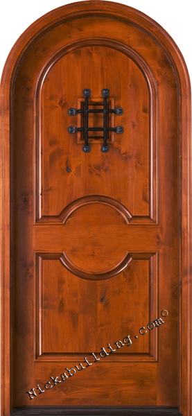 knotty alder exterior round top door SW-84