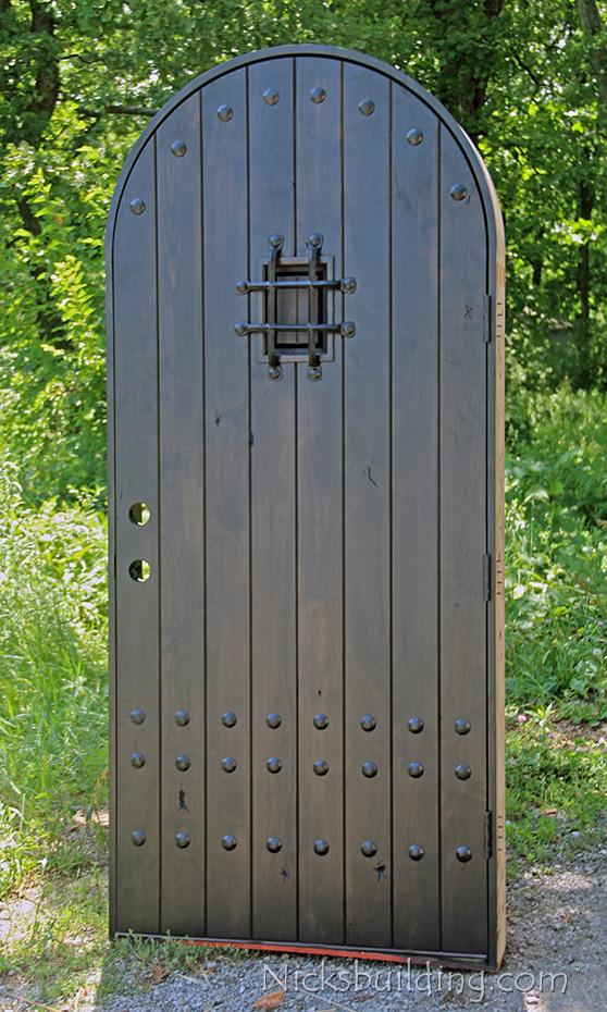 Top Knotty Alder Door Sw71 With Grey Stain