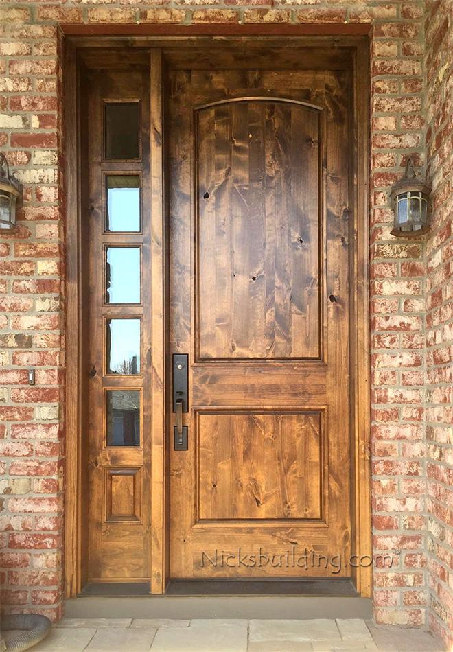 Rustic doors with one sidelite sw 66 for Rustic exterior doors