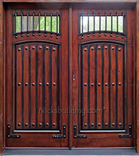 Rustic Knotty Alder Double Doors