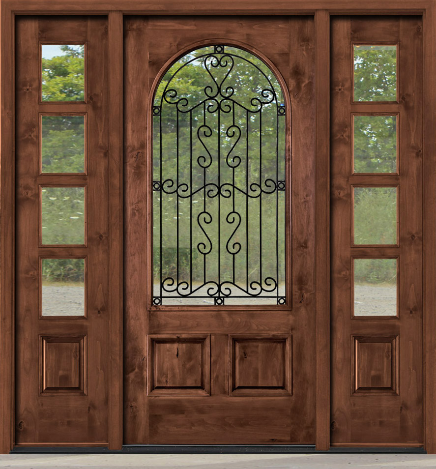 Sophisticated Knotty Alder Entry Door With Speakeasy Photos Plan