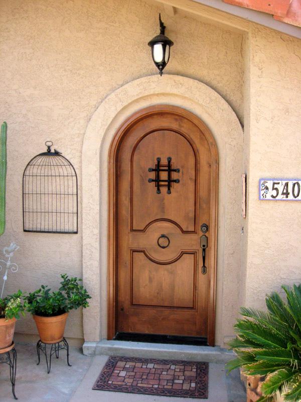 Rustic Round Top Exterior Door Sw 84