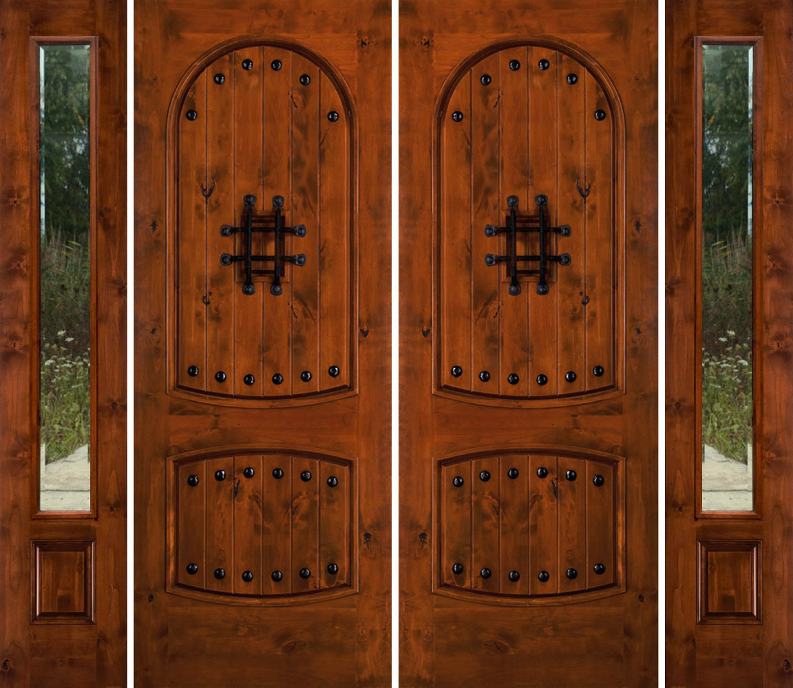 Double Entry Doors With Sidelights Exterior Fiberglass Entry Doors Wooden Exterior Doors With