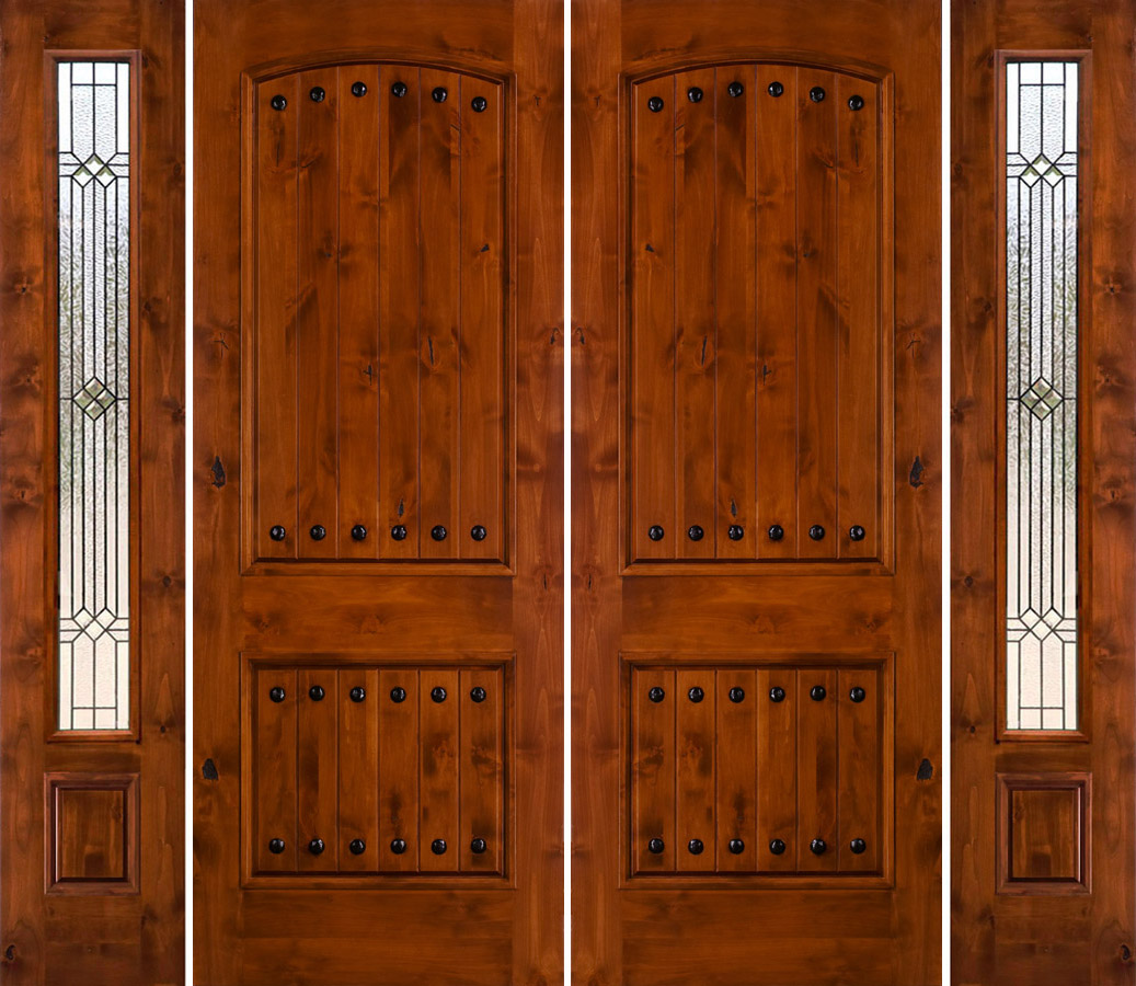 900 #773108 Rustic Double Doors With Sidelights Rustic Knotty Alder picture/photo Entry Doors With Sidelights 41991037