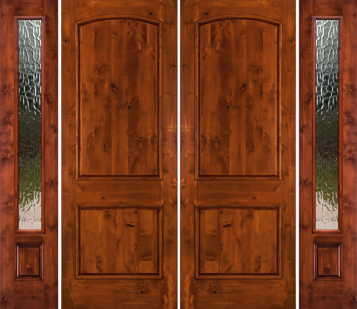 Rustic Double Doors With Sidelights Solid Wood Double Doors