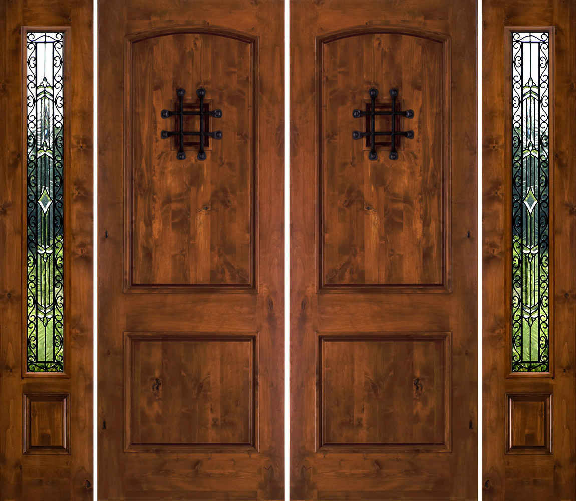 1000 #6D3A1B Rustic Double Doors With Sidelights Rustic Exterior Doors pic Metal Entry Doors With Sidelights 39211150