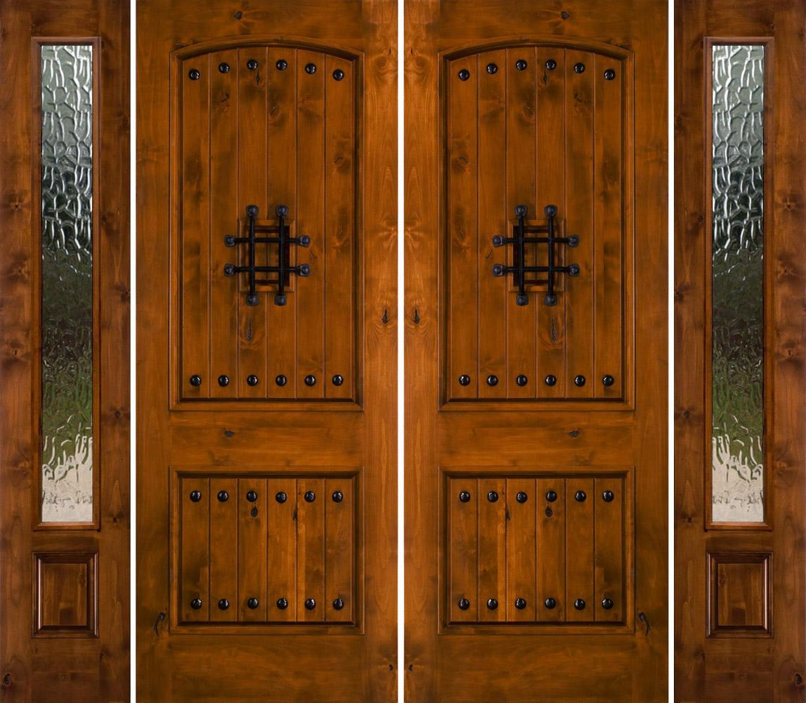 Rustic Double Front Doors: Rustic Knotty Alder Exterior Doors