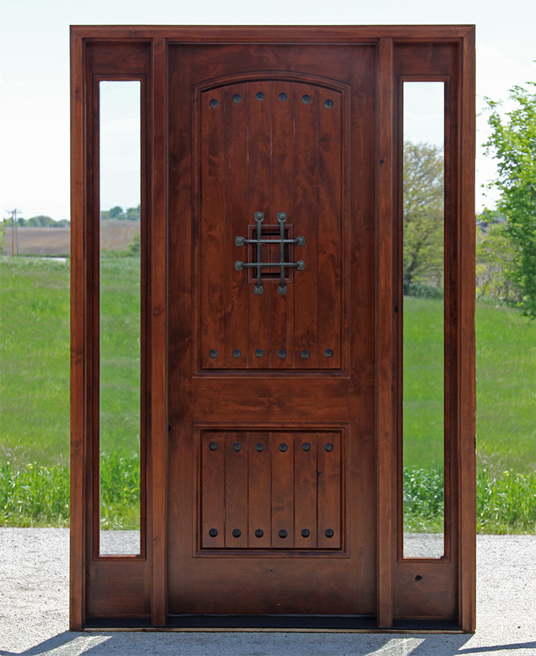 Glass Entry Doors With Side Lights : Popular exterior rustic doors with sidelights