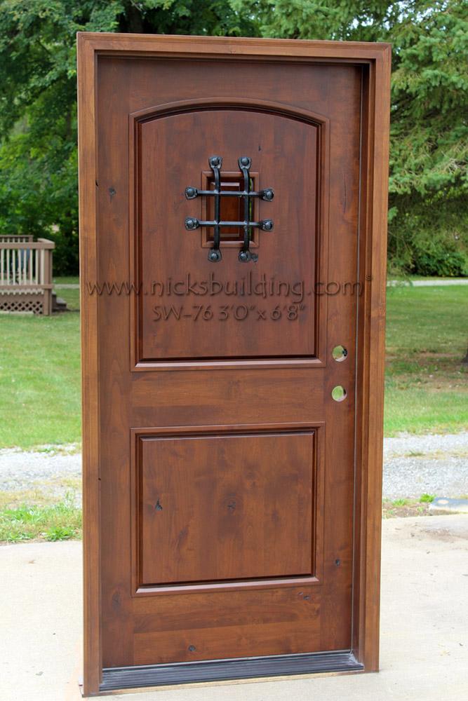 Rustic Doors Single Exterior Door Knotty Alder Doors