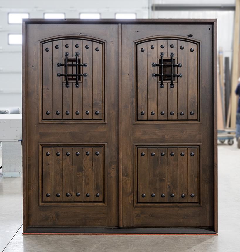 Rustic Double Front Doors: Knotty Alder Exterior Double Doors