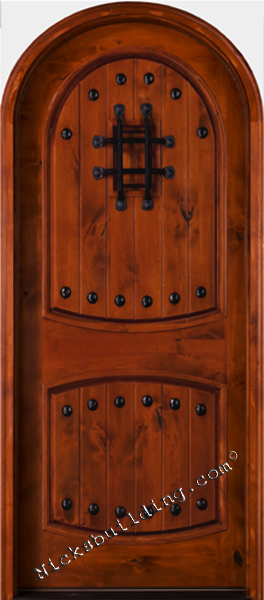 knotty alder exterior round top door SW-04