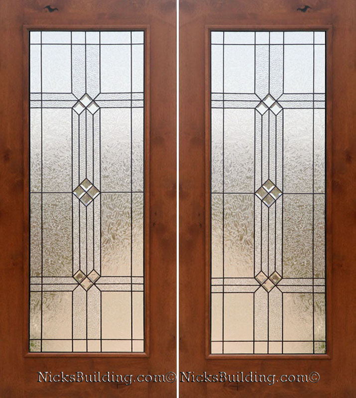 Knotty alder exterior double doors Interior french doors with frosted glass