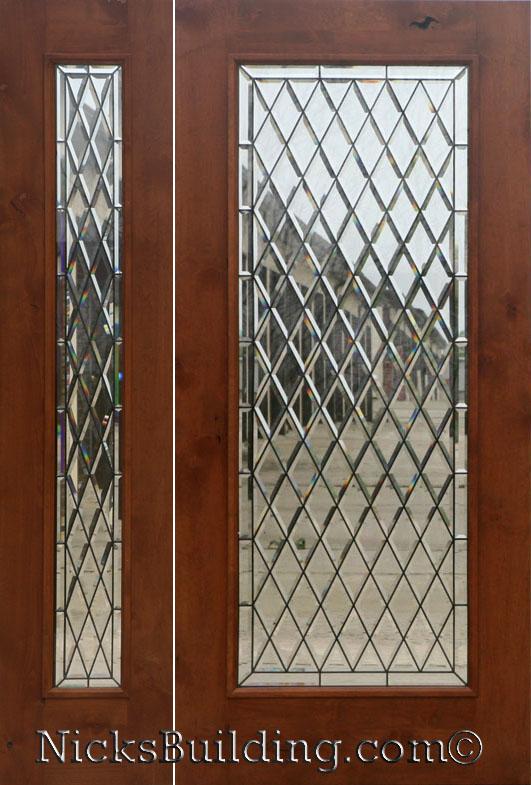 Rustic Glass Doors Full Lite Entry Door Knotty Alder 1 Lite Door