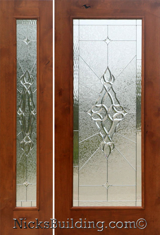 Rustic Glass Doors Full Lite Entry Door Knotty Alder 1