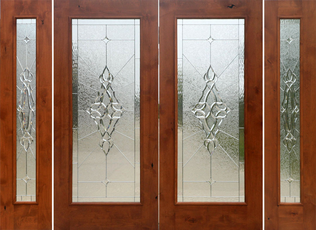 Rustic french doors with sidelights solid knotty alder doors sierra glass sw 250 with sw 100 sidelights 6 0 x 6 8 2668 planetlyrics Gallery