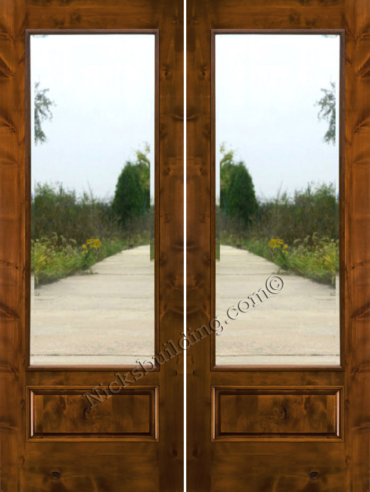 Captivating ... Rustic Patio Doors With Clear Beveled Glass