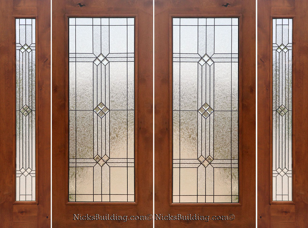 Rustic french doors with sidelights solid knotty alder doors eventshaper