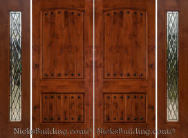 Rustic Knotty Alder Doors · Over 100 Choices Rustic Double Doors With  Sidelights