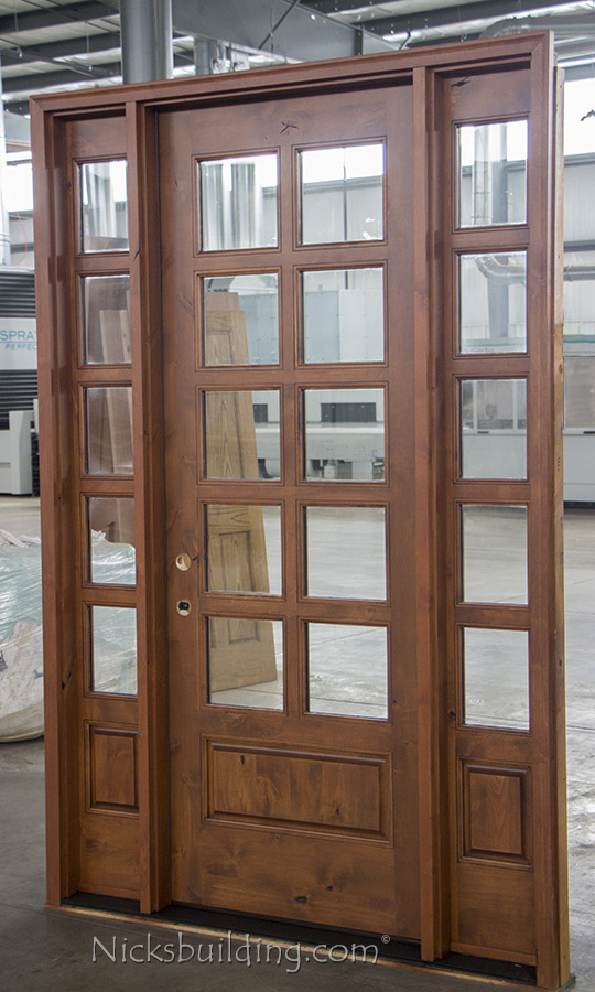 Rustic French Doors With Sidelights Sw 68