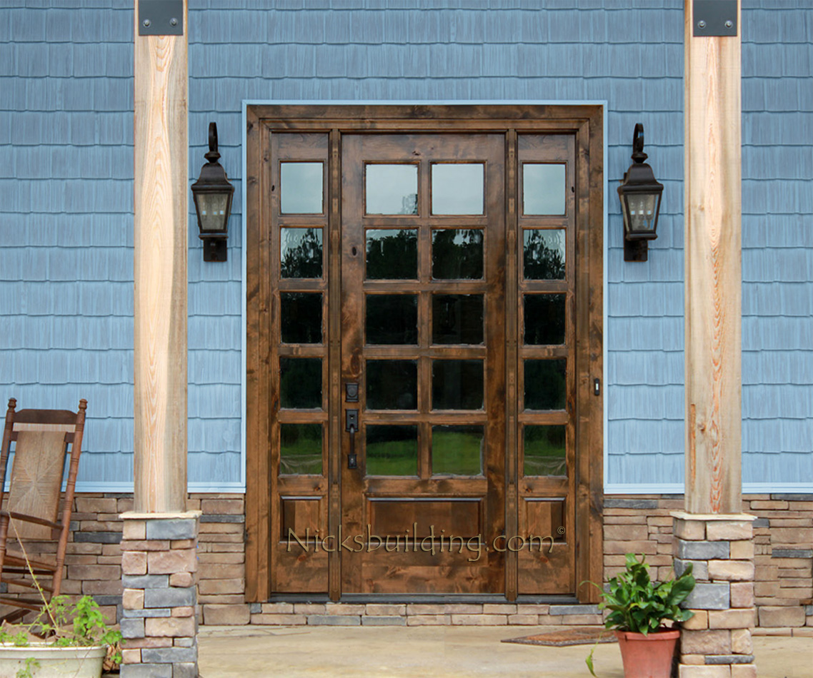 Wooden French Doors External: Rustic French Doors With Sidelights