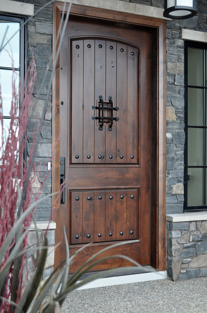 Home entrance door rustic entry door for External wooden doors