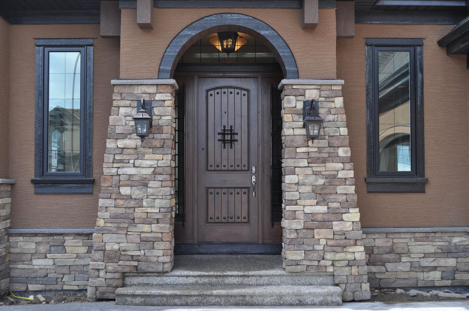 Rustic doors for Western building products exterior doors