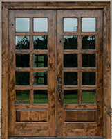 Rustic Wood Patio Doors