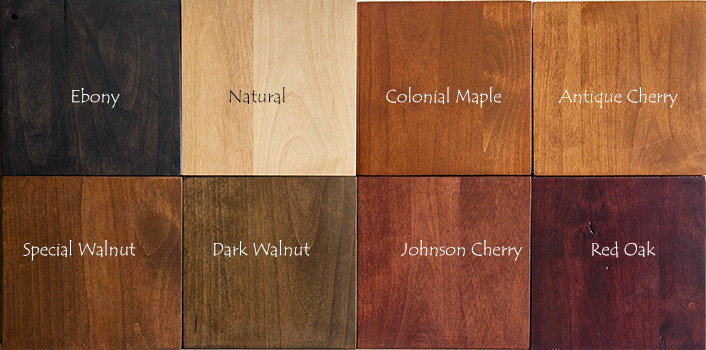 Knotty Alder Stain Samples Indirect Lighting